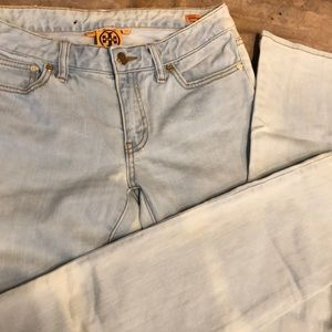 Tory Burch super skinny light wash jeans